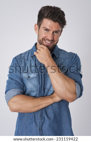 He knows that his appearance attracts women - stock photo