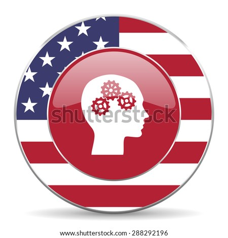 head american icon original modern design for web and mobile app on white background  - stock photo