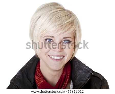Head and Shoulders Portrait of a beautiful, blond woman - stock photo