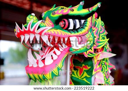 head dragon china festival thailand - stock photo