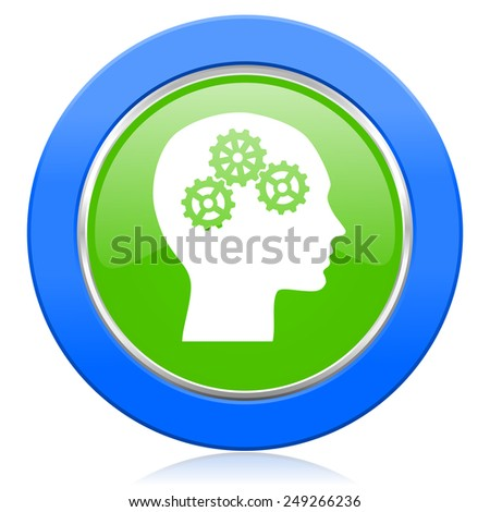 head icon human head sign  - stock photo