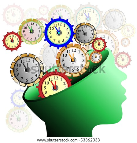 head: illustration: many clocks like gear wheels contacting each other