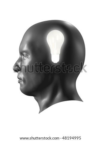Head light bulb - stock photo