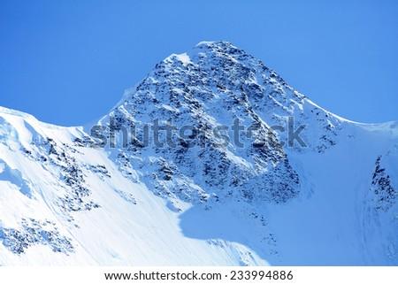 head of a mountain, Himalaya, Nepal - stock photo