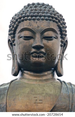 Head of Buddha in Lantau (Hong Kong) - stock photo