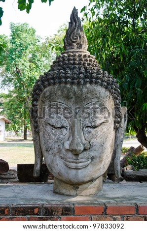 Head of buddha, Thailand.