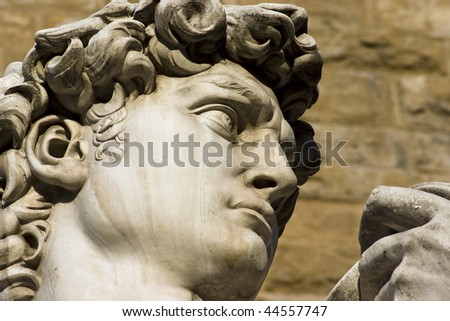 Head of David of Michelangelo, Florence, Italy - stock photo