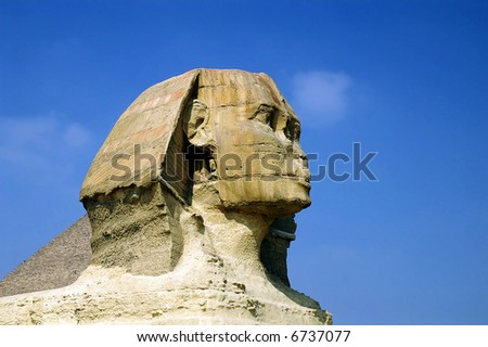 Head of Sphinx, Giza, Egypt - stock photo