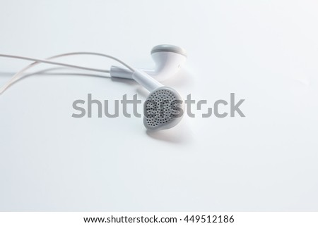 Head phone on white.
