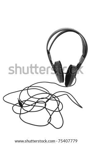 Head Phone on White Background - stock photo