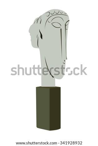 Head statue - stock photo