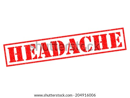 HEADACHE red Rubber Stamp over a white background. - stock photo