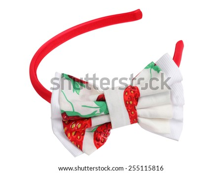 Headband isolated on white. Hair accessories. - stock photo
