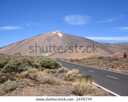 Heading for the natural volcanic park - stock photo
