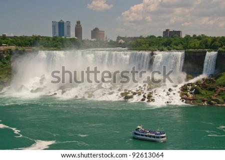 Heading towards Niagara Falls - stock photo