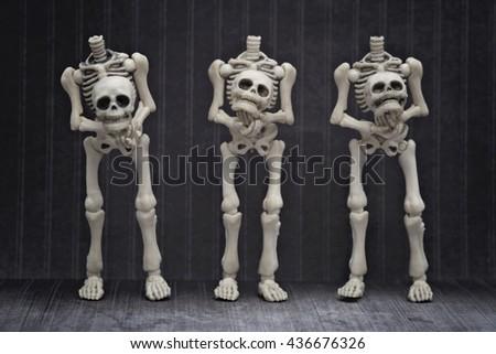 Headless skeletons - stock photo