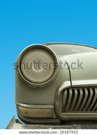 Headlight of the car old - stock photo