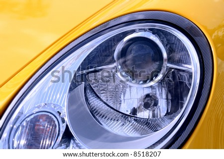 Headlight of the chic car - stock photo