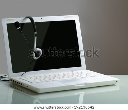 Headphone and Laptop