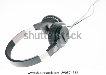 Headphone for listening to music / Headphone - stock photo