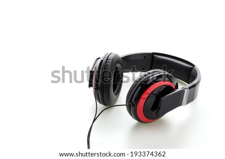 Headphone isolated on white