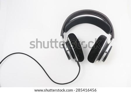 Headphone isolated on white background - stock photo