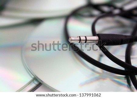 headphone jack - stock photo