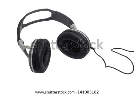 headphones head audio wire music classic stereo equipment cable phones accessory isolated clipping path