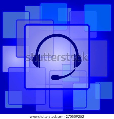 Headphones icon. Internet button on abstract background.  - stock photo