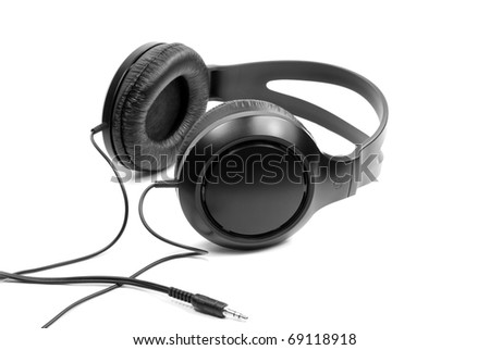 Headphones. Isolated on a white - stock photo