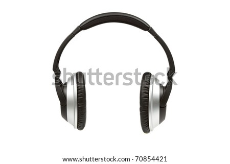 Headphones Isolated on a White Background - stock photo
