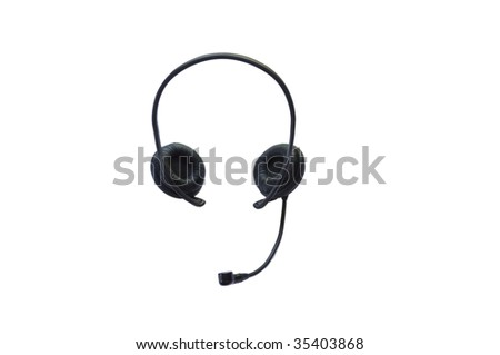 Headphones isolated on the white