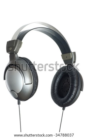 Headphones. Isolated on white background with clipping path.