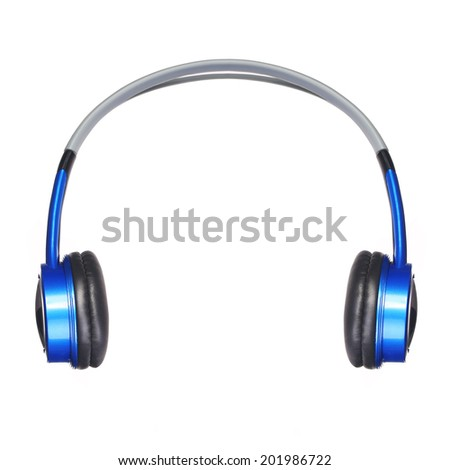 Headphones isolated on white. Music