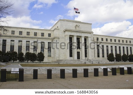 headquarter of the Federal Reserve in Washington, DC, USA, FED - stock photo