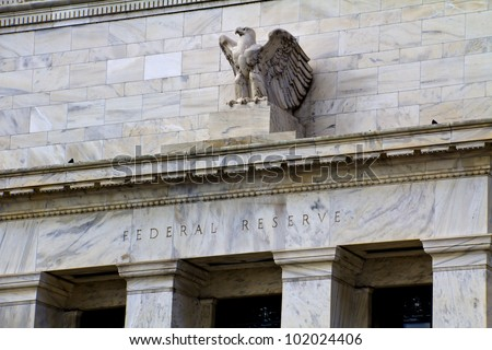 headquarters of the Federal Reserve in Washington, DC, USA,FED - stock photo