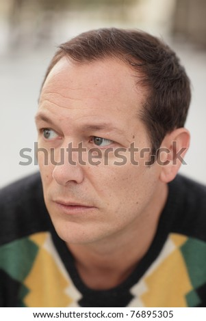 Headshot of a handsome man - stock photo