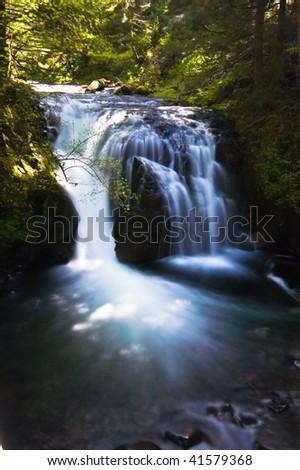 headwaters of Multnomah Falls - stock photo