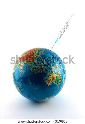 healing the world - stock photo