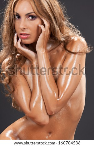 health and beauty concept - beautiful naked woman