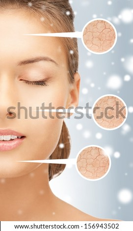 health and beauty concept - face of beautiful woman - stock photo