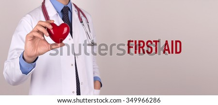 Health and Medical Concept: FIRST AID - stock photo
