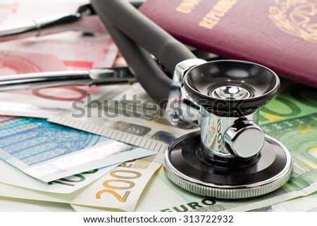 health and money - stock photo