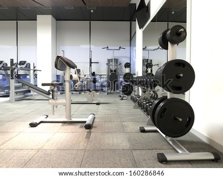 Health and recreation room - stock photo