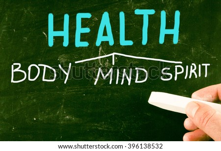 health body mind spirit - stock photo