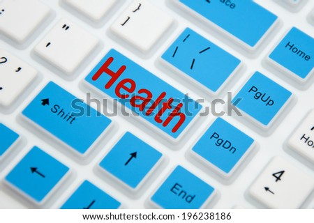 Health button on keyboard