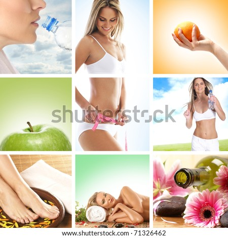 Health care collage made of some pictures - stock photo