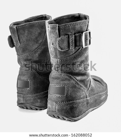 Health care leather boot on isolated background
