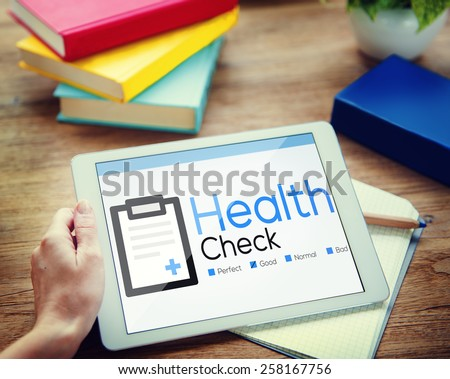 Health Check Diagnosis Medical Condition Analysis Concept - stock photo