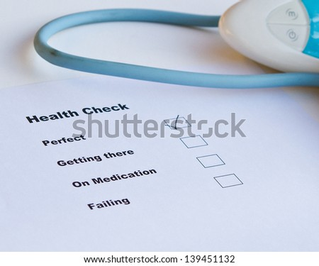 Health check rating is perfect  - stock photo